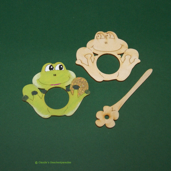 Holz Frosch 7 cm